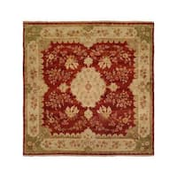 Carol Bolton Rose/Chenille Wool Hand-knotted Area Rug (10' x 14')