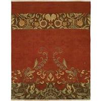 Caspian Soumak Multi/Red Wool/Cotton Reversible Area Rug (10' x 14') - 10' x 14'