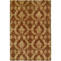Gramercy Autumn Spice Rust Wool Viscose Hand-knotted Area Rug - 10' x 14'