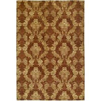 Gramercy Autumn Spice Rust Wool Viscose Hand-knotted Area Rug (10' x 14')