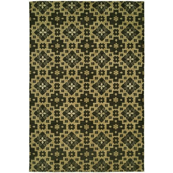 Gramercy Chino Multicolored Wool/Viscose Hand-knotted Area Rug - 10' x 14'