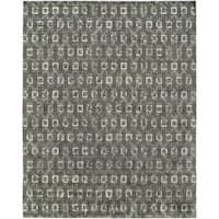 Gramercy Grey/Granite Wool Blend Hand-knotted Area Rug - 10' x 14'