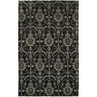 Gramercy Black Hand-Knotted Area Rug - 2' x 3'