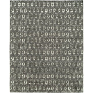 Gramercy Grey/Granite Hand-Knotted Area Rug (2' x 3')