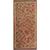 Kilim Arya Darron Red/Blue Wool Rug - 8'1 x 16'6