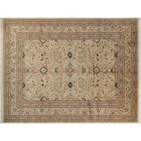Lahore Pak-Persian Ebony Gold/Red Wool Rug (10'2 x 14'7) - 10 ft. 2 in. x 14 ft. 7 in.
