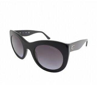 Guess/GU7485-01B/Women's/Shiny Black Frame/Smoke Gradient Lens/Sunglasses