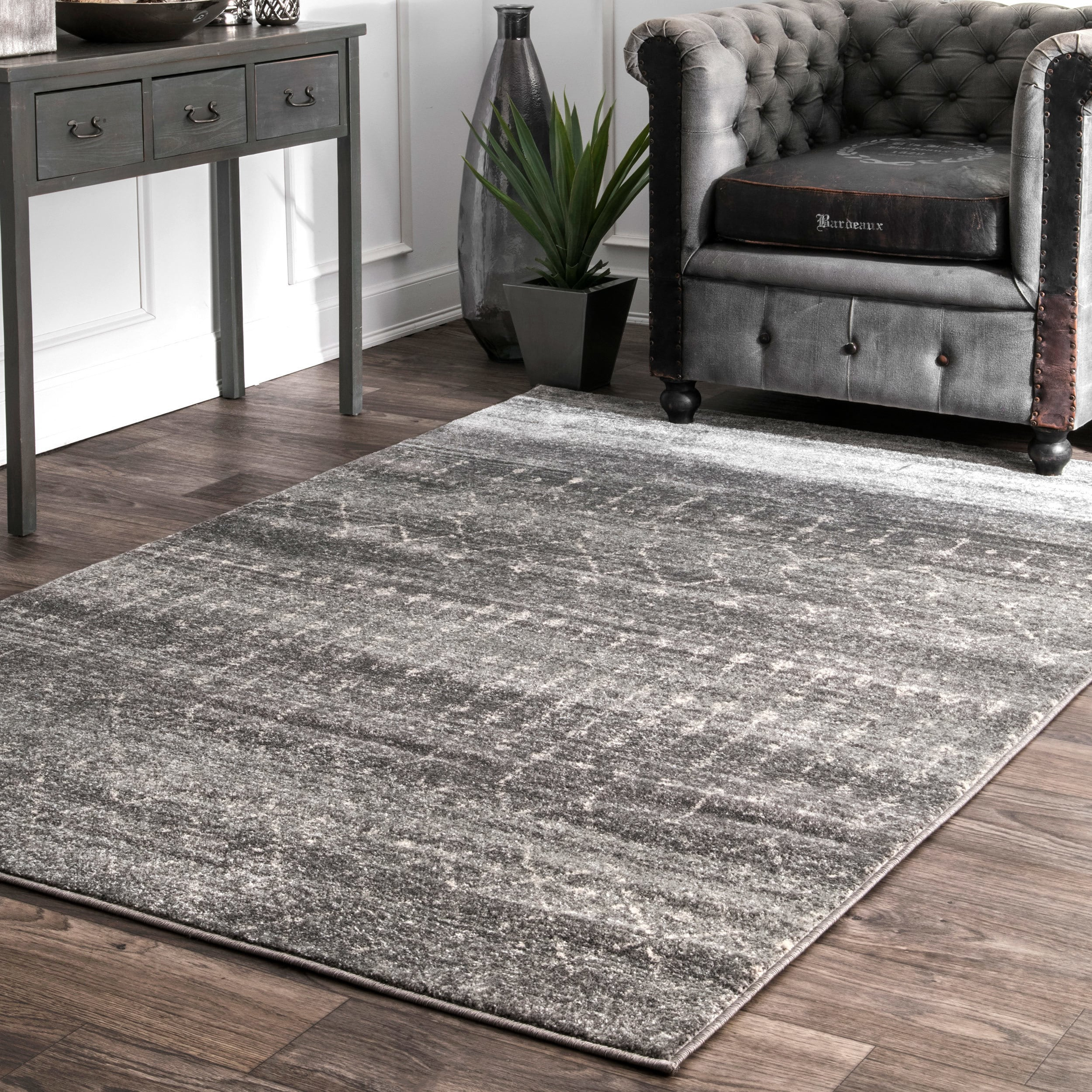 Shop The Curated Nomad Ashbury Beaded Dark Grey Rug 10 X