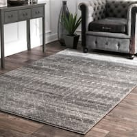 nuLoom Geometric Moroccan Beads Dark Grey Rug - 10' x 14'