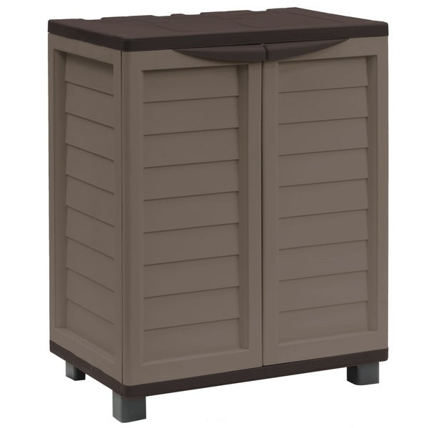 Cabinet with 2 shelves, Mocha/Brown. Opens flyout.