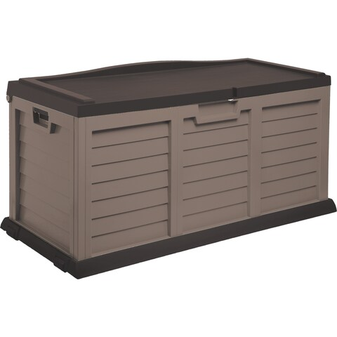 103 Gallon Deck Box with Sit-On Cover, Mocha/Brown