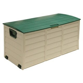 60 Gallon Deck Box, Beige/Green