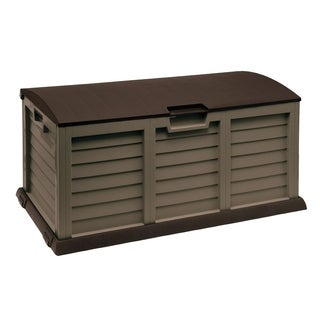 103 Gallon Deck Box With Dome Lid,Mocha/Brown