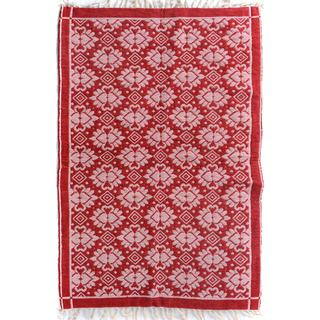 Double-sided Arya Basil Red/Pink Chenille Rug (3'10 x 5'10) - 3 ft. 10 in. x 5 ft. 10 in.