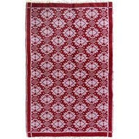 Double-sided Arya Hiram Pink/Pink Chenille Rug (3'10 x 5'10) - 3 ft. 10 in. x 5 ft. 10 in.