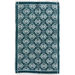 Arshs Double-sided Arya Reed Green/Green Chenille Rug (3'9 x 5'8)