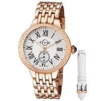 GV2 Women's Swiss Quartz Rose tone Diamond Bracelet Watch Set - Gold