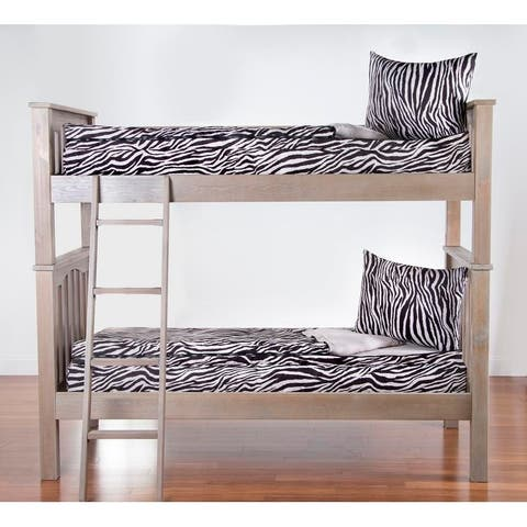 Siscovers Zebra Zen Zippered Bunkie and sham