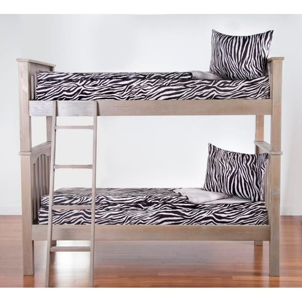 Shop Siscovers Zebra Zen Zippered Bunkie And Sham On Sale Free