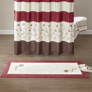 Madison Park Belle Red Embroidered Cotton Tufted Rug (2 options available)