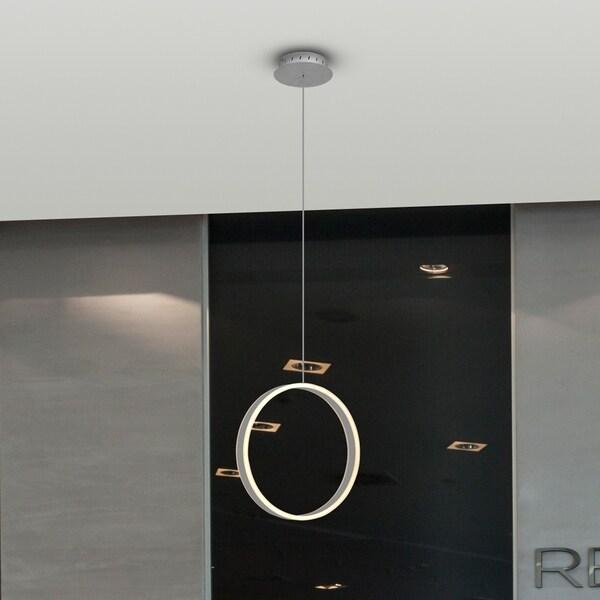 VONN Lighting VMP26410AL Europa 16-inch Integrated LED Pendant Silver