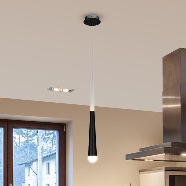 VONN Lighting VMP26910BL Procyon 7-inch Integrated LED Pendant Black