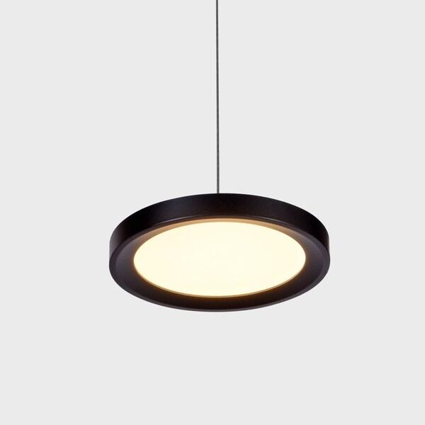 VONN Lighting VMP22530BL Salm 6-inch Integrated LED Pendant Black
