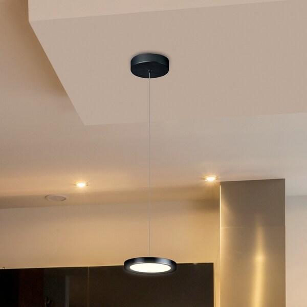 VONN Lighting VMP22530BL Salm 6-inch Integrated LED Pendant in Black