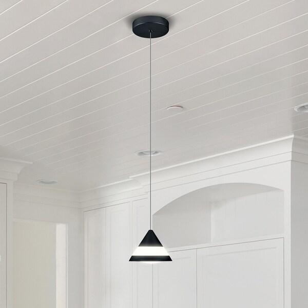 VONN Lighting VMP22520BL Procyon 5-inch Integrated LED Pendant in Black