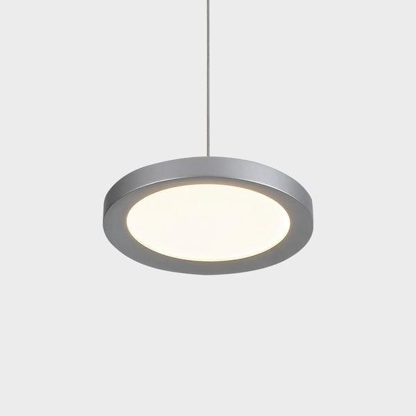 VONN Lighting VMP22530AL Salm 6-inch Integrated LED Pendant Silver