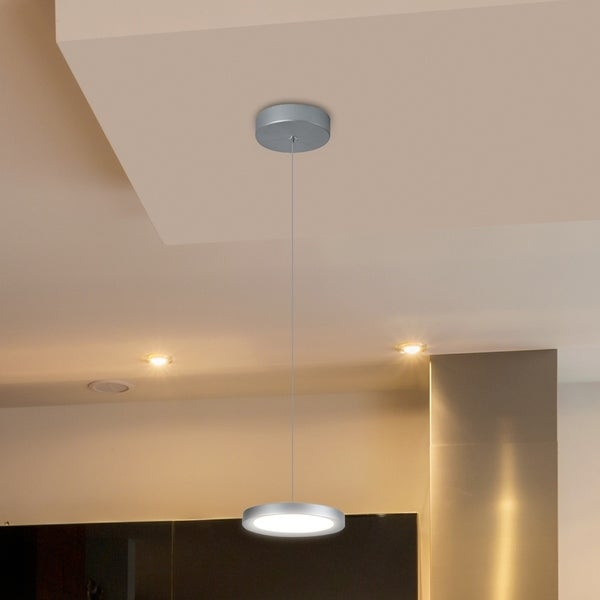 VONN Lighting VMP22530AL Salm 6-inch Integrated LED Pendant in Silver