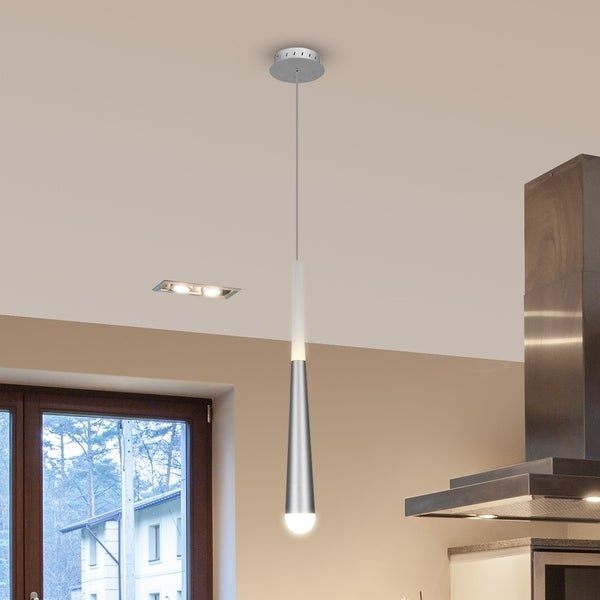 VONN Lighting VMP26910AL Procyon 7-inch Integrated LED Pendant Silver