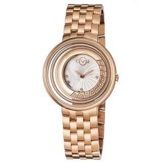 GV2 Women's Swiss Quartz Diamond Rose tone Bracelet Watch - Gold