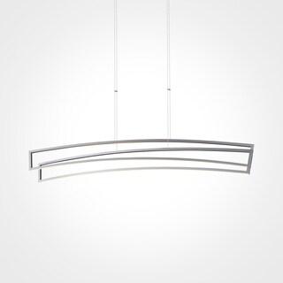 VONN Lighting VMC33440AL Sirius 46-inch Integrated LED Linear Chandelier in Silver