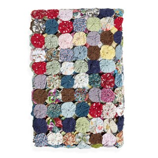 Button Quilted Throw Blanket