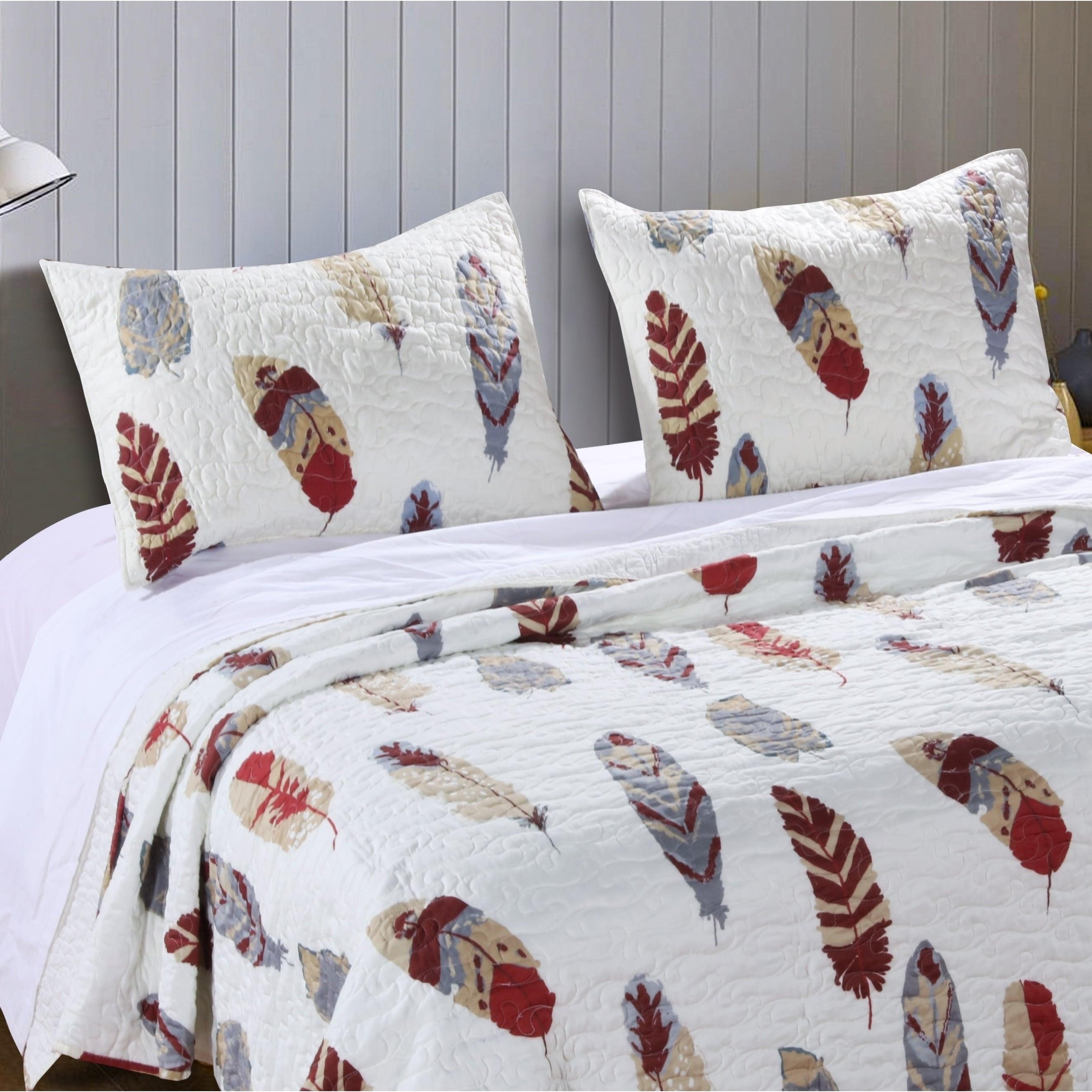 Part Bed Sheet Modern Bedroom 100/% Cotton Pillow Sham Swirl 3-in-1 Pillowcase
