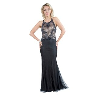 Webbed Fishnet Hourglass Gown