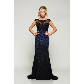 Beaded Cap Sleeve Gown (2 options available)