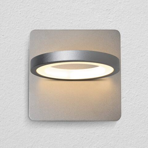 "VONN Lighting VMW17300AL Tania 6"" Rotative LED Wall Sconce Silver"