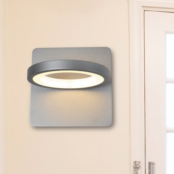 Vonn lighting vmw17300al tania 6 inch rotative integrated led wall sconce in silver