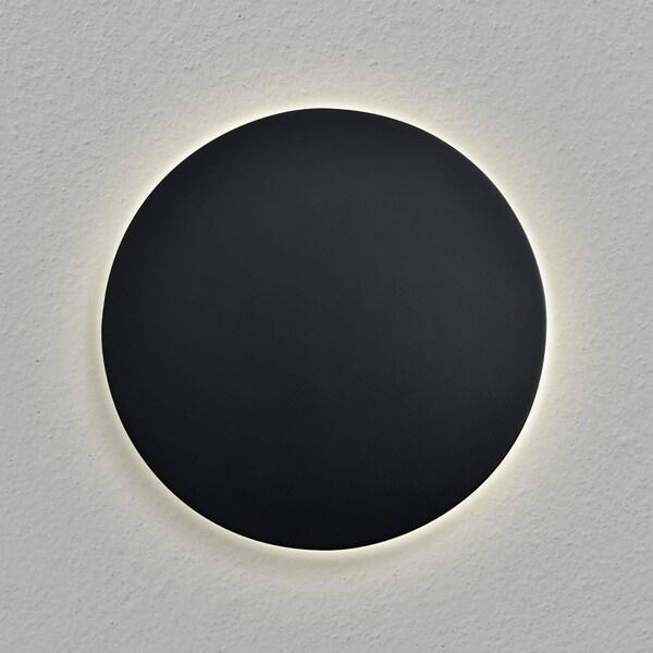 shop vonn lighting vmw13300bl eclipse round 7 led wall sconce black