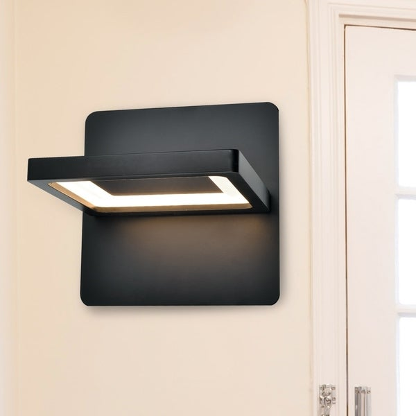 Vonn lighting vmw17400bl atria 6 rotative led sconce in black