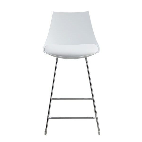 Shop Emerald Home Neo White 24 Quot Bar Stool With Molded