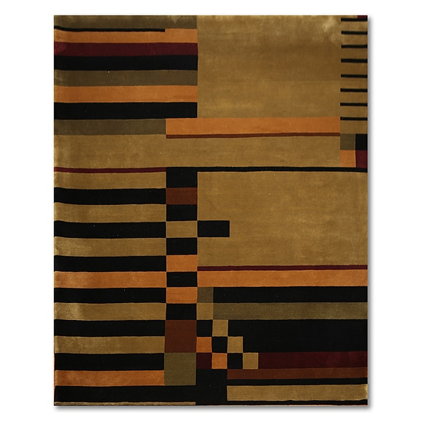 Modern Abstract Tibetan Oriental Area Rug - 8' x 10'