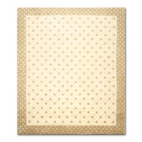 Tibetan Ivory/ Brown Wool Oriental Area Rug - 8' x 10'