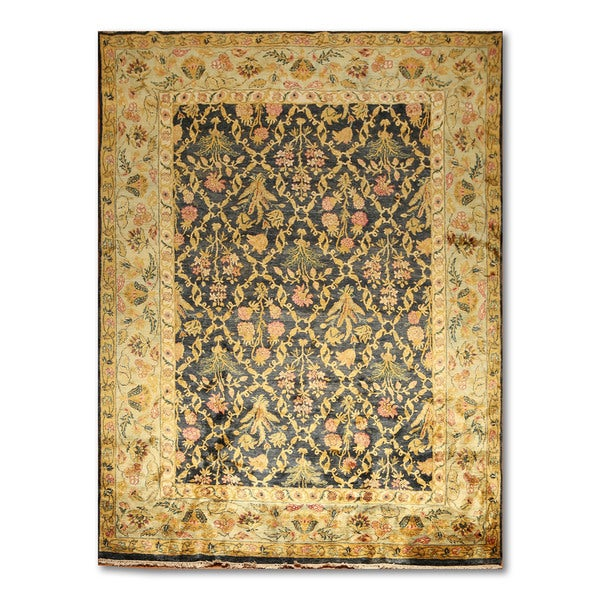 Glam Ornamental Multicolored Wool Persian Oriental Area Rug - 8'4 x 11'4
