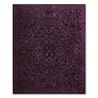 Eclectic Glam Purple Wool Italian-look Turkish Persian Orietal Rug - 5'7 x 7'11
