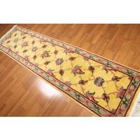 Persian Oriental Floral Trellis Wool Runner Rug - 2'6 x10'
