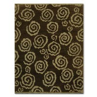 Modern Tufenkian New Swirls Tibetan Multicolored Wool Area Rug (6' x 9')
