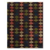 Tufenkian Boho Argyle Tibetan Multicolored Pure Wool Area Rug - 6' x 9'